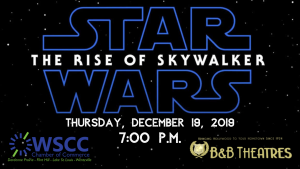 WSCC Movie Night- Star Wars: The Rise of Skywalker @ B&B Theatres