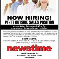Sales Position- Advertising Representative for Newspaper and website advertising.